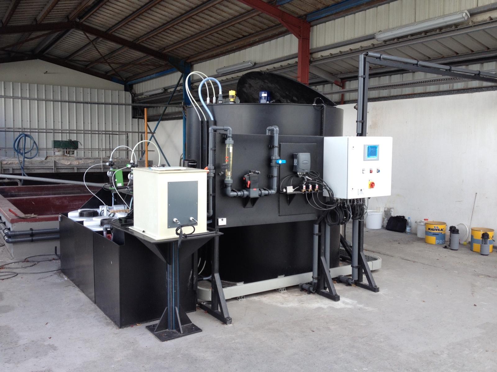 Installation de coagulation/floculation