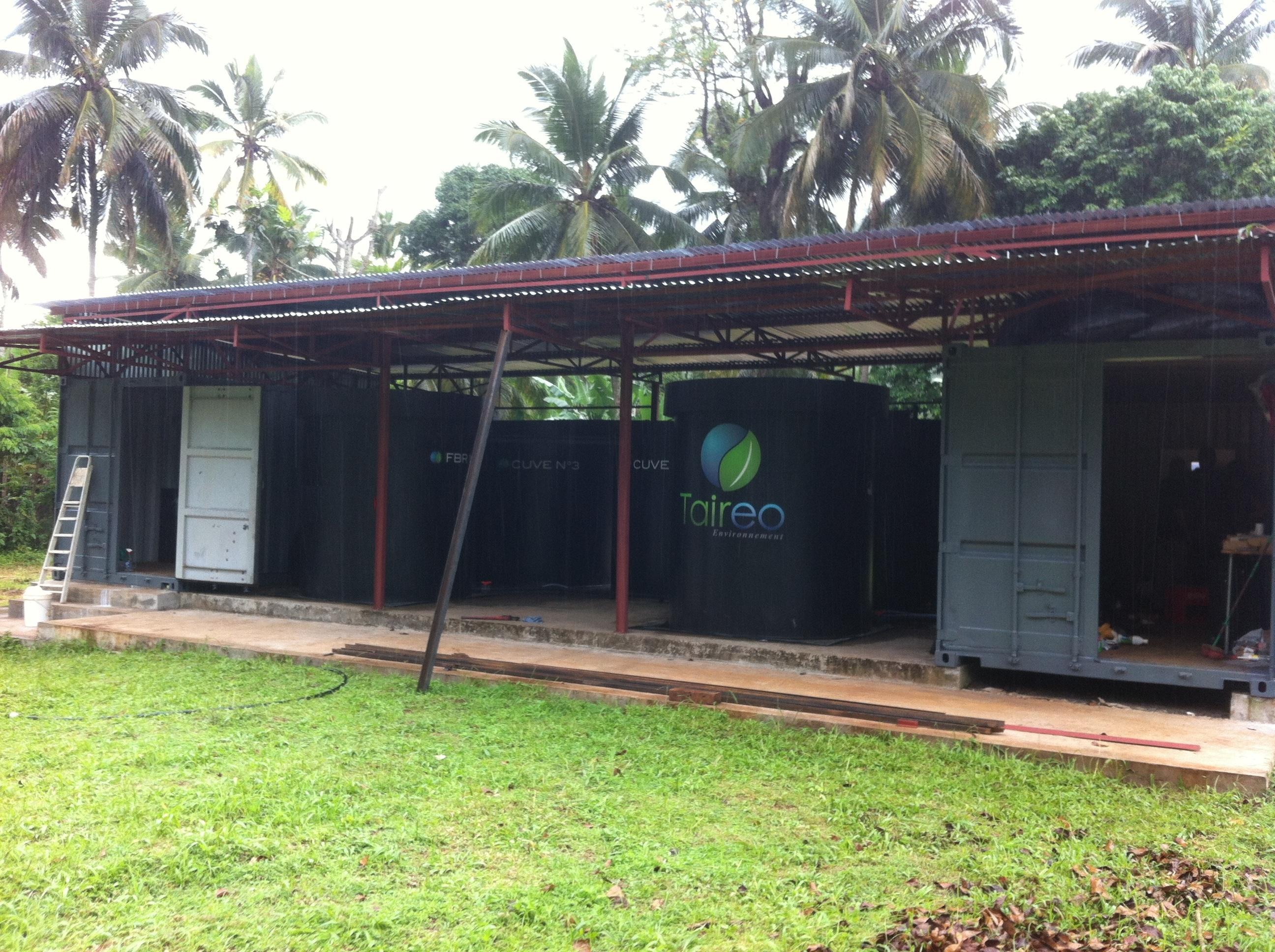 Bioréacteur à lit fixe 60 m3/jour